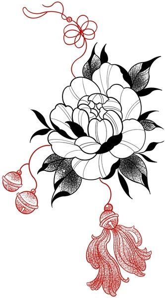 tattoo flash flower