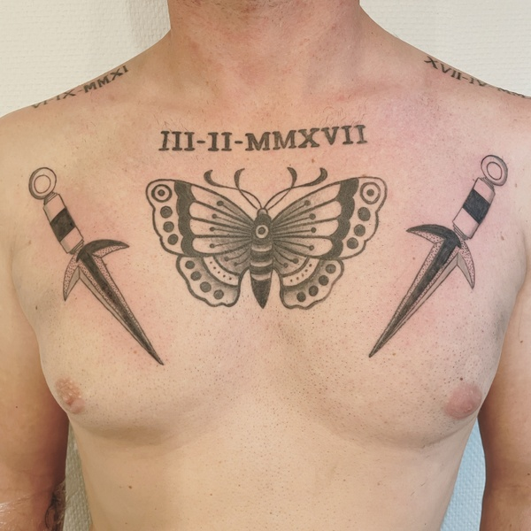 traditionnal tattoo butterfly