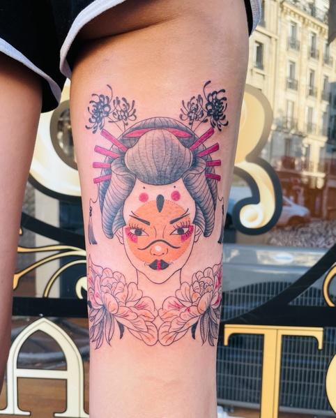 tatouage geisha